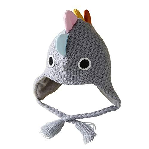 Toyvian Gorros de niños Sombreros de Capucha con Capucha de Dinosaurio para Invierno otoño