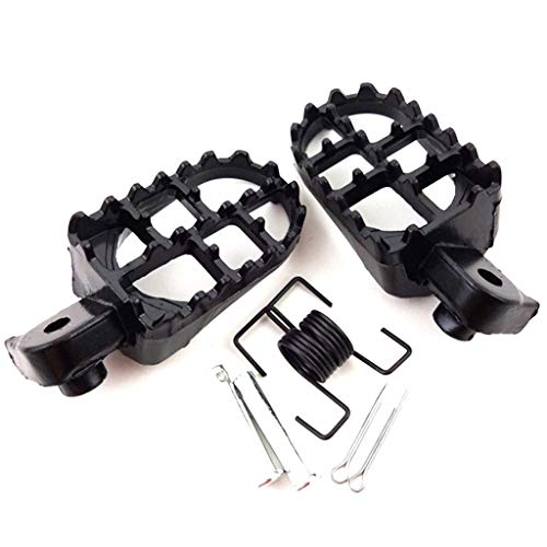 Alician Autoaccessory for Foot Pegs Pedals for Yamaha TW200 PW50 PW80 Pit Dirt Bike SSR SDG Footrests black