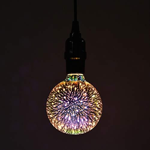 Mobestech 2 pz lampadine a fuochi dartificio a led edison classic 3d fuochi dartificio luci decorative di umore per bar cafe capodanno decorazioni di natale e27 85-265v 7w