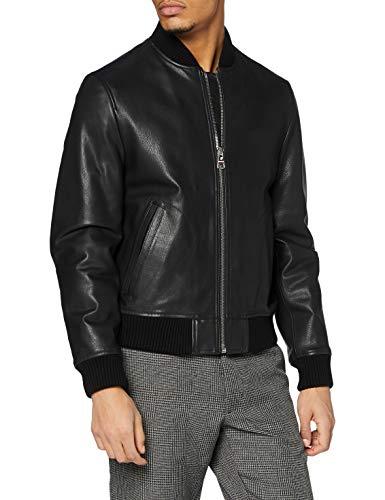 Tommy Hilfiger Bomber Varsity Chaqueta, Black, XL para Hombre