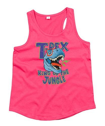 Tank Top - Tyrannosaurus Dino Cartoon Brille - Tops Unisex für Kinder - Jungen und Mädchen