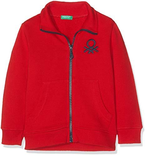 United Colors of Benetton 3J68C5196 Cardigan, Rosso (Rosso 015), 80/86 (Taglia Produttore:1Y) Bimbo