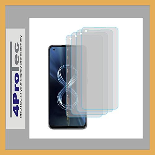 4ProTec | 4X Bildschirm-Schutz-Folie KLAR für Asus ZenFone 8