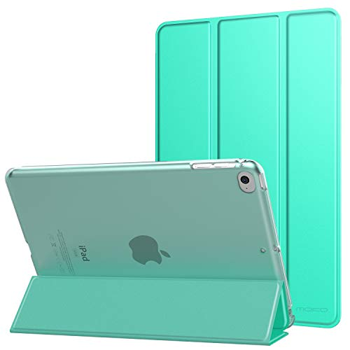MoKo Case Fit New iPad Mini 5th Generation 7.9' 2019/iPad Mini 4 2015, Slim Lightweight Smart Shell Stand Cover with Translucent Frosted Back Protector, with Auto Wake/Sleep - Mint Green