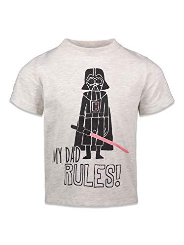 Star Wars Darth Vader Toddler Boys Short Sleeve T-Shirt 3T Heather White