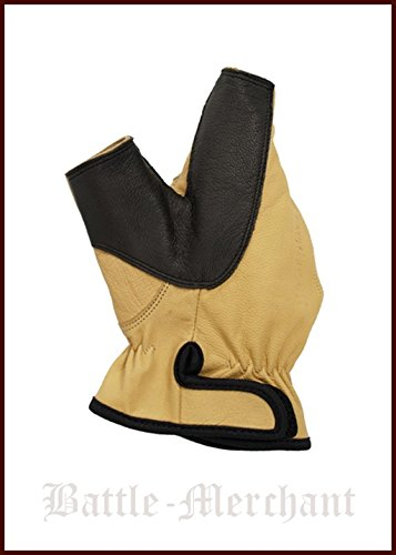 Battle-Merchant Bearpaw Products Larp Guantes de Piel para Zurdos (Talla M o L), Hombre, Color Producto de Battle, tamaño Medium
