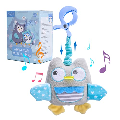 Lupantte Owl Baby Gym Toy Baby Musical Plush Toy Baby Hanging Rattles Sensory Toy Early Development Crib Car Seat Stroller Toys for 0, 3, 6, 9, 12 Months Babies Toddlers and Infants Gifts