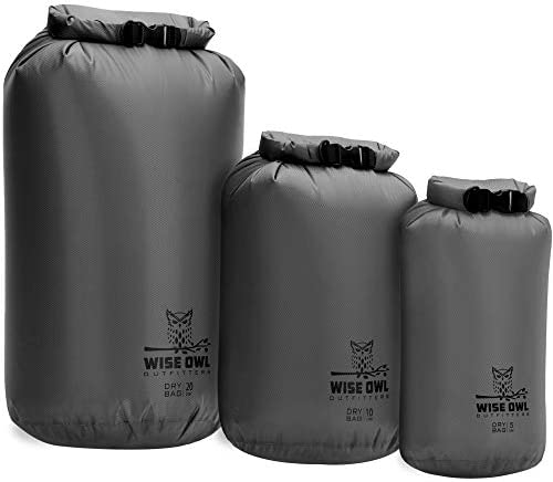 Wise Owl Outfitters Dry Bag 3 Pack Fully Submersible Ultra Lightweight Airtight Waterproof Bags product image