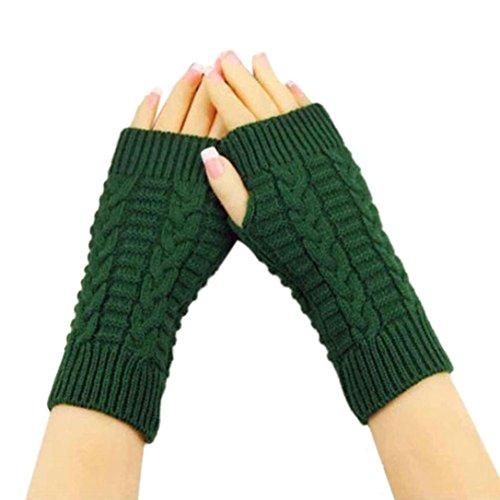 TUDUZ Unisex Winter Gestrickte Handgelenk Arm Handwärmer Strick Lange Ärmel Fingerlose Handschuhe Fäustlinge für Damen Herren Presents/Christmas Gifts (F)