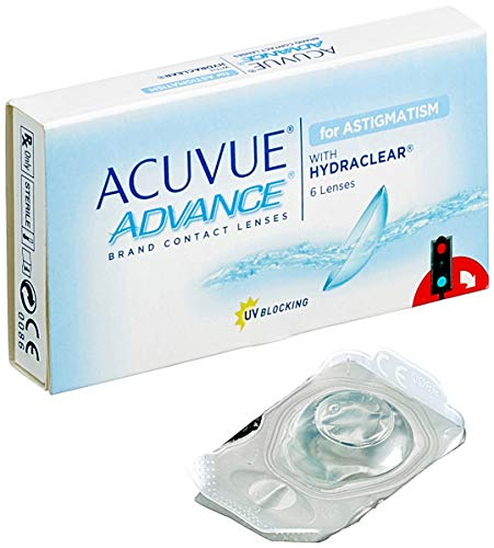 Acuvue Advance for Astigmatism 2-Wochenlinsen weich, 6 Stück / BC 8.6 mm / DIA 14.5 / CYL -1.25 / Achse 10 / 0.50 Dioptrien