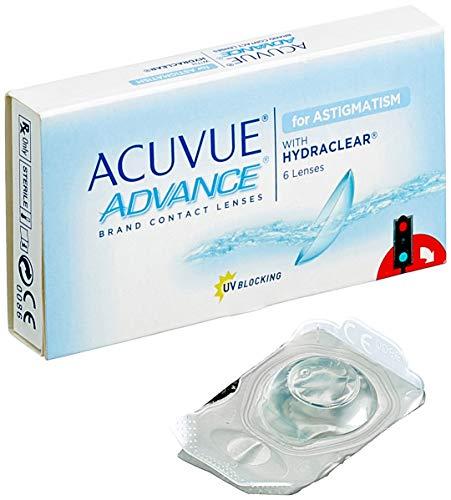 Acuvue Advance for Astigmatism 2-Wochenlinsen weich, 6 Stück / BC 8.6 mm / DIA 14.5 / CYL -1.25 / Achse 20 / -1.00 Dioptrien