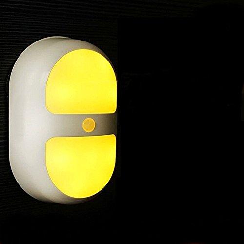 Body LED bewegingssensor licht, inductieve lamp, wandlamp, perfect voor kinderkamer, badkamer, kast, bergruimte, waskeuken, trappenhuis, pad, kasten (werkt op batterijen, overal)