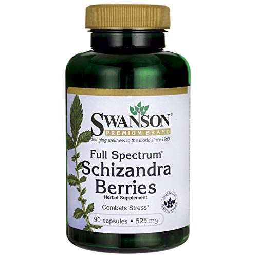 Swanson Full Spectrum Schizandra Berries 525 Milligrams 90 Capsules