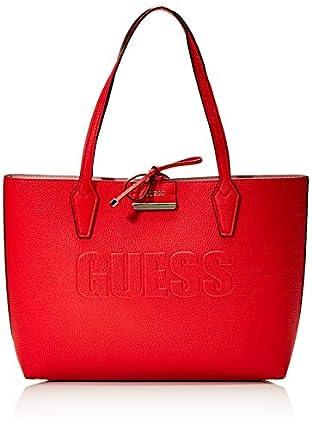Guess - Bobbi, Bolsos totes Mujer, Multicolor (Red/Pink), 12.5x27x42.5 cm (W x H L)
