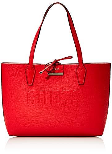 Guess - Bobbi, Bolsos totes Mujer, Marrón (Cognac/Spice), 12.5x27x42.5 cm (W x H L) (Zapatos)