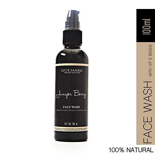 Gulnare Skincare Juniper Berry Face Wash, Natural Foaming Cleanser for Dry Skin, 100ml