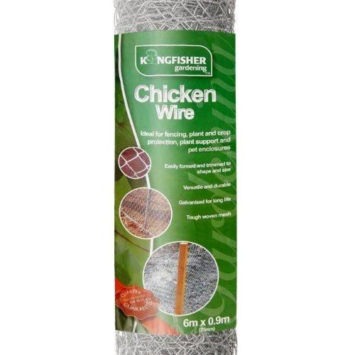 Unibos Chicken Wire Mesh Rabbit Animal Fence Garden Netting Fencing Rust Proof
