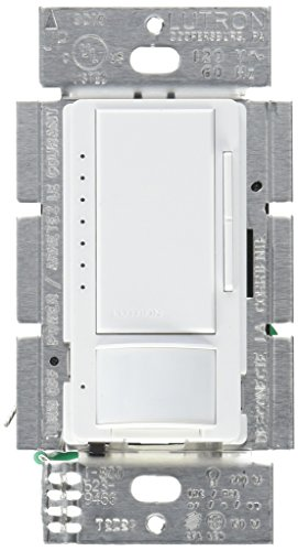 Lutron Maestro LED Dimmer switch with motion sensor, no neutral required, MSCL-OP153M-WH, White2-PACK