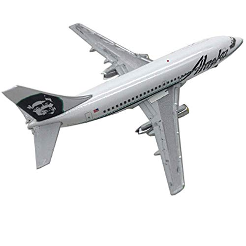 LINANNAN 1:400 GJ Boeing 737-200 Alaska Airlines Alloy Passenger Aircraft Model Ornaments for Crafting Collecting And Gift