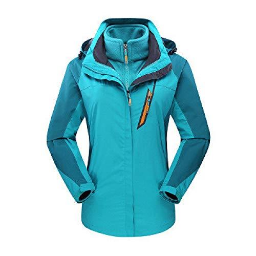 Jacken für Männer und Frauen, 3-in-1-Anzug, Outdoor-Anzug und Winteranzug aus dickem Samt, wasserdichter Bergsteigeranzug,
