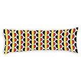 Promini I Love Belgium Belgian Flag Hearts Body Pillow Cover Pillowcases Cushion with Hidden Zipper Closure for Sofa Bench Bed Home Decor 20'x54'