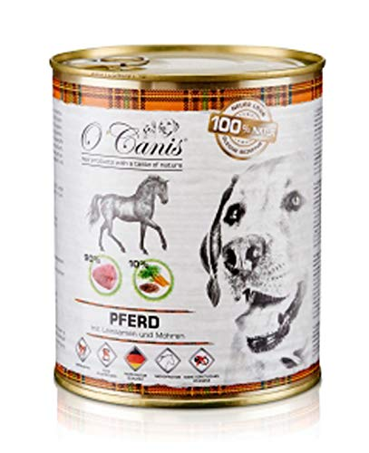 O'Canis Hundefutter Pferdefleisch mit Gemüse & Leinsamen - 400 g (12 x 400 g)