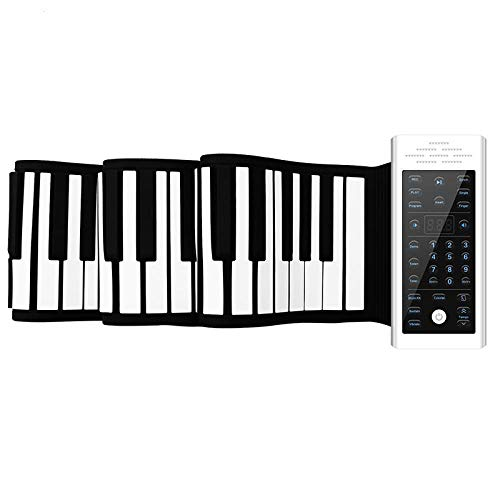 Amazing Deal FJFJFJ 61/88 Keys MIDI Roll up Piano Silicone Electronic Keyboard Piano Flexible Profes...