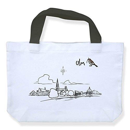 Einkaufstasche Skyline ULM - als Geschenk für Ulmer & Fans von ULM oder als Souvenir - die stadtmeister