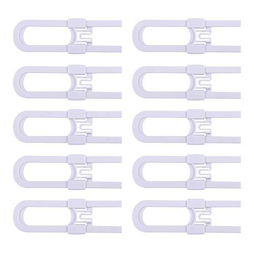 SODIAL 10 PièCes SéRies Serrures Coulissantes pour Armoires - Armoires de VéRification avec PoignéEs de Verrouillage de SéCurité pour Enfants RéGlables Portes Armoire de Porte de Stockage