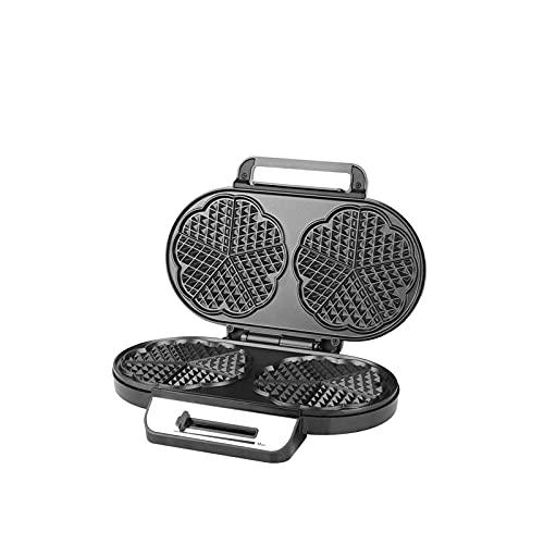 KISAD Máquina de Desayuno Multifuncional Doble Bandeja Waffle Maker Mini Sandwich eléctrico Hornear Pan horneado Acero Inoxidable multifunción casa Picnic Equipo de Viaje (Color : Default)