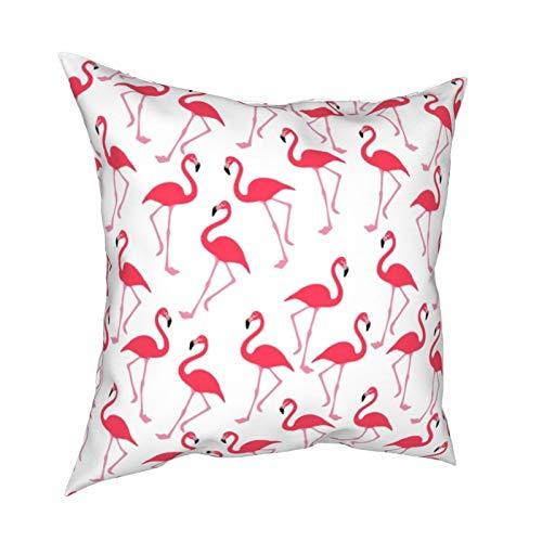 Uliykon Full Flamingo - Fundas de cojín decorativas para sofá, dormitorio, coche, con cremallera invisible, 45,7 x 45,7 cm