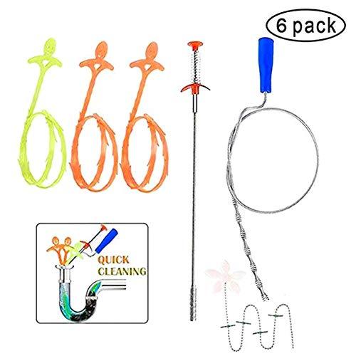 Giytoo Drain Snake Drain Cleaner Sticks Strumento di Pulizia per la rimozione di intasamenti Spring Pipe Dredging Tools
