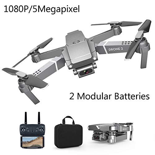 APJS Quadricopter, FPV RC 2 Auswechselbarer Akkus Drohne mit Full-HD Gimbal Kamera, Drone 2 E68 Falt Drohnen Quadrocopter 2.4G 6-Achsen-Fernbedienung, Headless-Modus, Speed-Modus