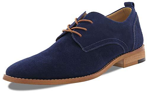 Men's Classic Modern Formal Oxford Wingtip Lace Up Dress Shoes Blue Dress Shoes Men Size11.5