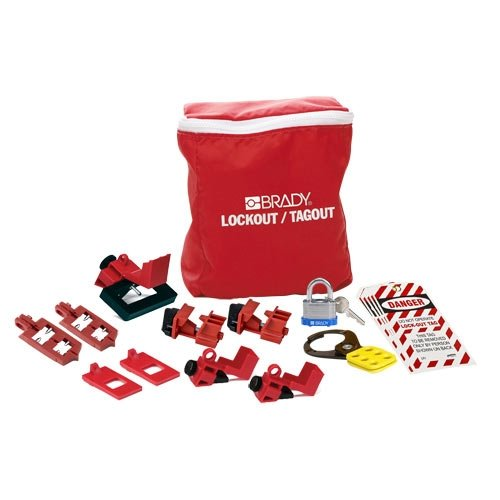 Brady Manufacturer direct delivery 134034 Breaker Inventory cleanup selling sale Lockout Pouch Kits Kit 2
