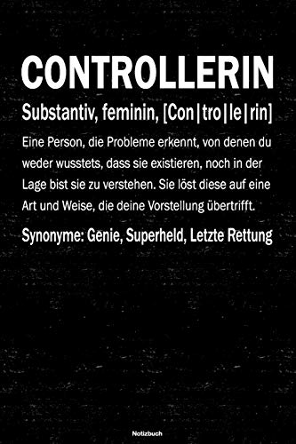 Controllerin Notizbuch: Controllerin Journal DIN A5 liniert 120 Seiten Geschenk