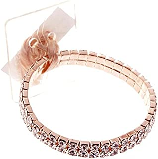 Sophisticated Lady Rhinestone Corsage Bracelet One Size (Rose Gold), DIY, Wedding, Homecoming, Prom, Events, Arts & Crafts and Special Occasions