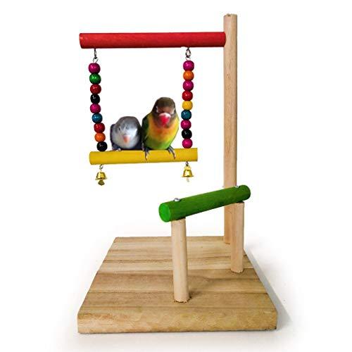 Vogelspeelgoed Papegaaien Vogel Oefening Swing Klimmen Hanging Ladder Brug Speelgoed Met Klokken Houten Papegaai Vogel Hangmat Speelgoed
