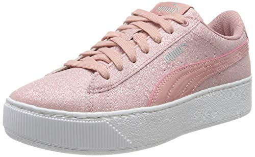 PUMA Vikky Platform Glitz Jr', Sneaker Bambina, Rosa (Bridal Rose-Bridal Rose), 38.5 EU