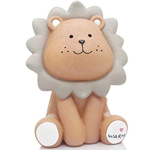 H&W - Hucha para niños, diseño de león, Marrón, Mediano