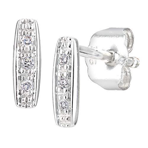 Naava Women White Diamond Stud Earrings PE05770W