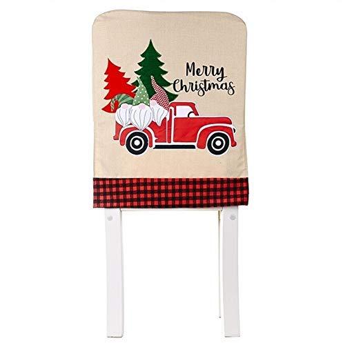 Weihnachtsbaum Röcke Neues Jahr Ons Bodenmatte Rote Plaid Rock Runder Teppich Navidad auf (Farbe: Stuhlabdeckung) Peng (Color : Chair Cover)