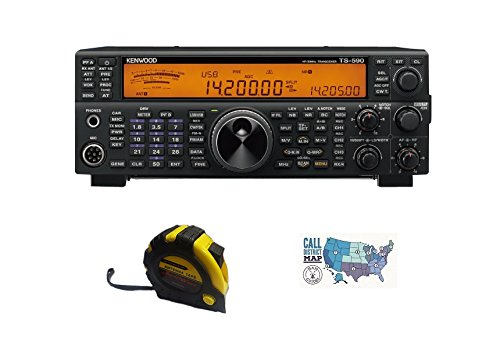 Bundle - 3 Items - Includes Kenwood TS-590SG Base Radio, HF/6m, 100W with The New Radiowavz Antenna Tape (2m - 30m) and HAM Guides Quick Reference Card