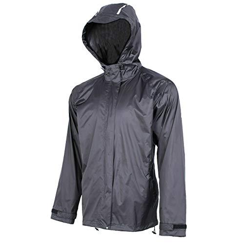 ROCKBROS Regenjacke Wasserdicht Regenmantel Fahrrad Outdoor Freizeitjacke Herren Damen Unisex Schwarz M-4XL