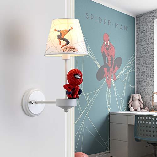 Batman Lampe Murale Lampe Murale créative LED Mur Mode Cartoon Enfants Salle de Jeux pour la Lampe Murale Spiderman Lampes garçon E14 Chambre Lampe de Chevet 41cm * 25cm * 17cm,3000k