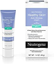 Neutrogena Healthy Skin Anti-Wrinkle Retinol & Vitamin E Daily Moisturizer with SPF 15 Sunscreen, Oil-Free Face & Neck Cream with Retinol, Vitamin E, Vitamin A & Vitamin B5, 1.4 oz