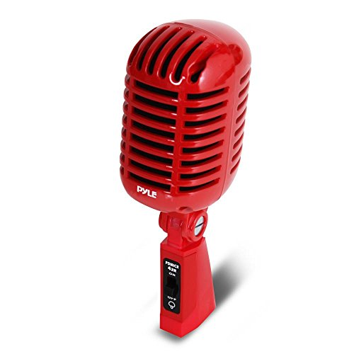 Pyle pdmicr42r Classic Retro Vintage Style Dynamisches Vocal Mikrofon mit 16 FT XLR-Kabel (rot) 8.30in. x 3.80in. x 3.40in. Pyle PDMICR42R Classic Retro Vintage Style Dynamic Vocal Microphone 16ft Cable