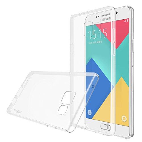 Preisvergleich Produktbild Samsung Galaxy A5 (2016) Hülle,  Profer TPU Schutzhülle Tasche Case Cover Kratzfest Weich Flexibel Silikon Bumper für Samsung Galaxy A5 (2016)(SM-A510F) Nicht für Samsung A5 2014 (SM-A500FU) (durchsichtig)