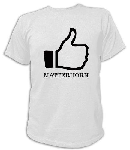 Artdiktat T-Shirt I like Matterhorn Unisex, Grösse XXL, weiß