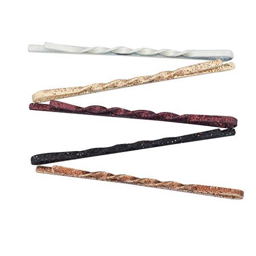 Lux Accessories 60 PC Glitter Sparkle Bobby Pin Hair Multi Color Dark Clip Set